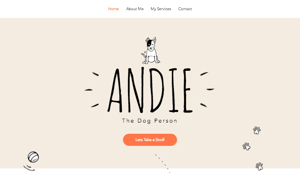 Tiere website templates – Hundesitter