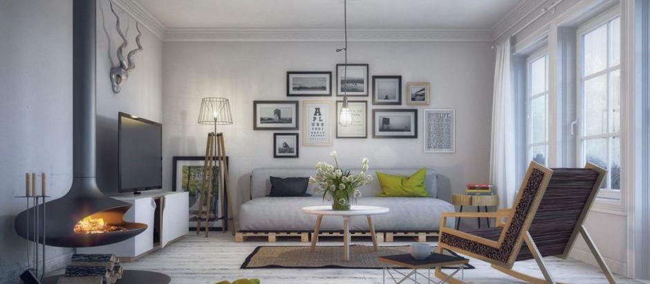 Шторы для комнаты в скандинавском стиле