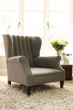 Victorian Fluted Back Wing Chair