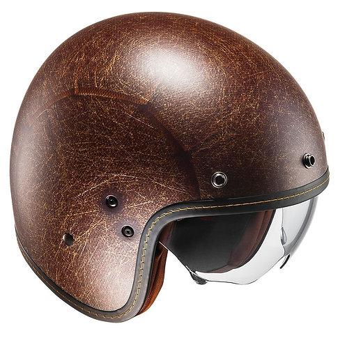 HJC FG-70s Openface Helmets Vintage Flat Brown
