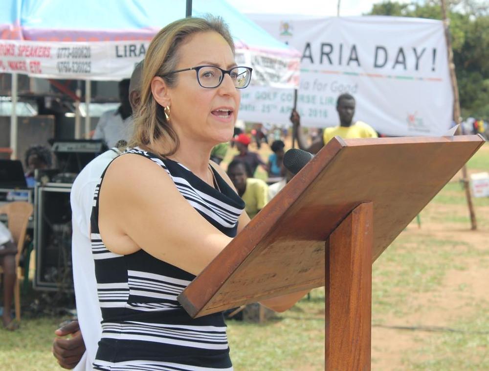Jo Lesser, Representative of the US Ambassador to Uganda making her remarks