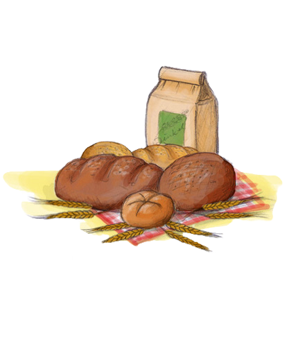 Brot, Gebäck und Getreide
