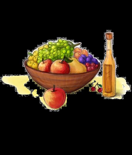 Obst, Honigprodukte, Liköre