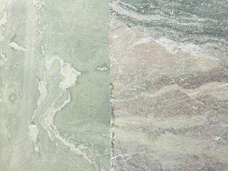 Grün gemaserte Steine