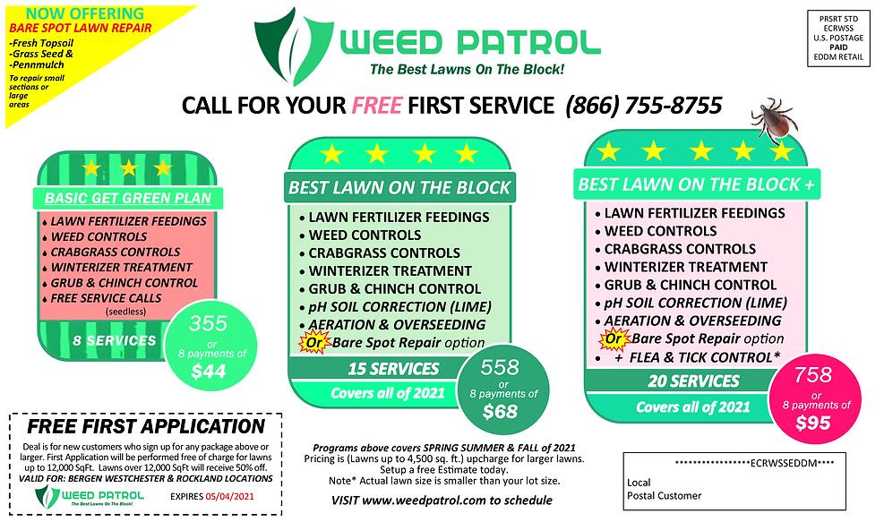 Spring 2021 Weed Patrol best lawn AdvertisementBack