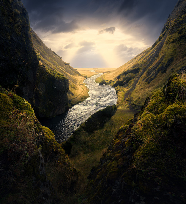 Light on the end of river
