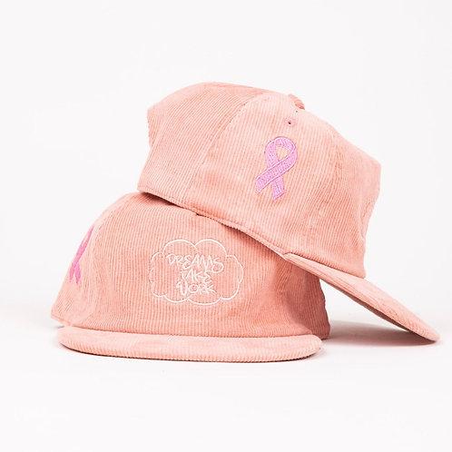 Corduroy SnapBack: Pink f*** Breast Cancer
