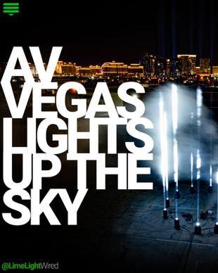 AV Vegas Lights Up The Sky