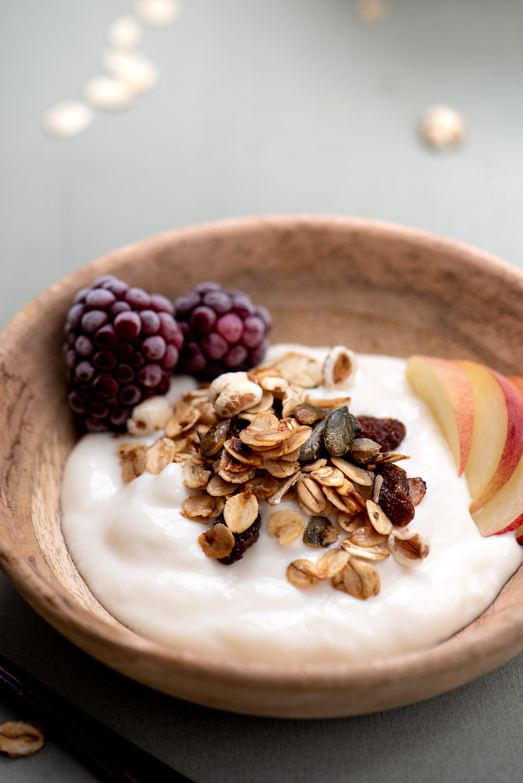 granola soja yoghurt