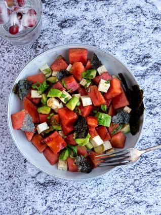 Japanse watermeloensalade