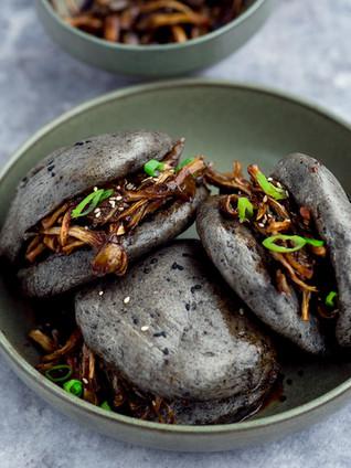 Vegan gestoomde broodjes