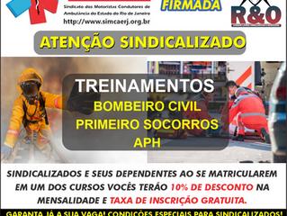 ATENÇÃO SINDICALIZADO AOS TREINAMENTOS