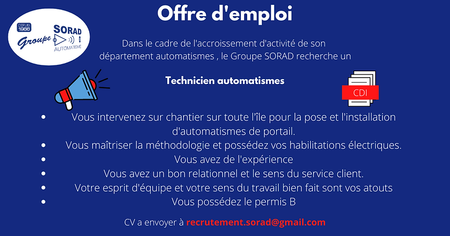 OFFRE D'EMPLOI Technicien automatismes.p
