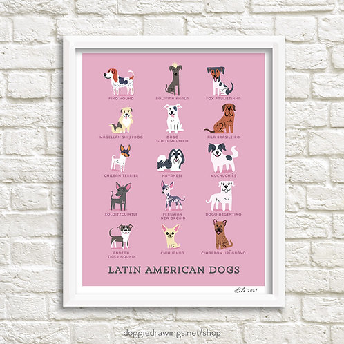 LATIN AMERICAN DOGS art print - new version