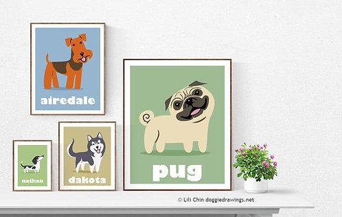 Non-Custom Single Animal Print - Choose print size