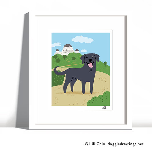Custom Dog-in-Landscape print