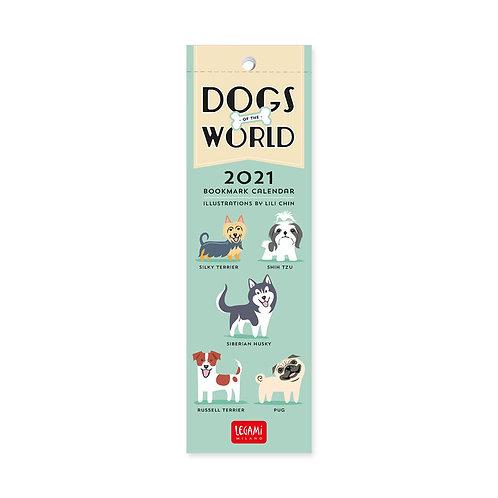 Dogs of the World 2021 bookmark calendar