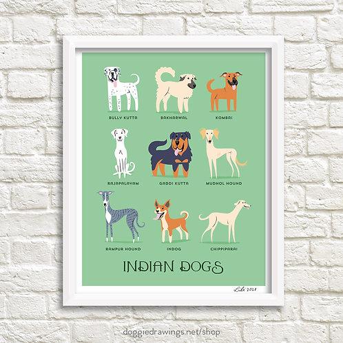 INDIAN DOGS art print