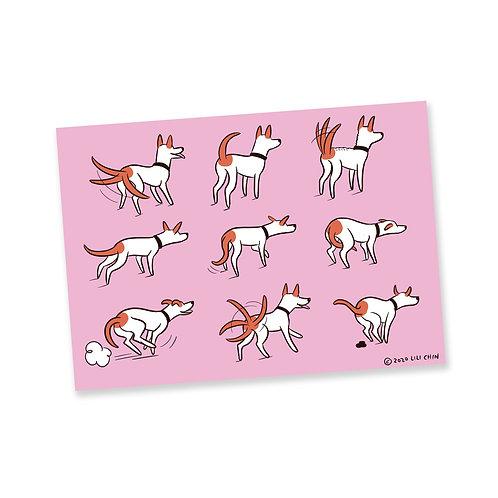 DOG TAILS - postcards