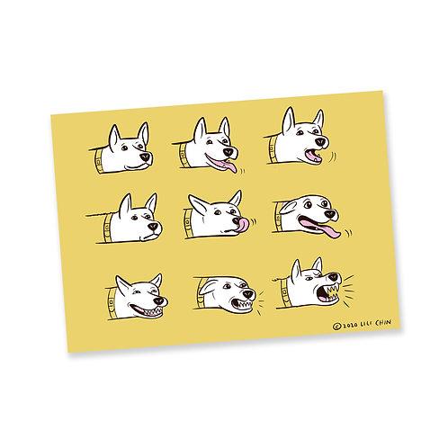 DOG MOUTHS - postcards