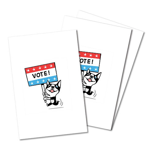 VOTE postcards - set of 10