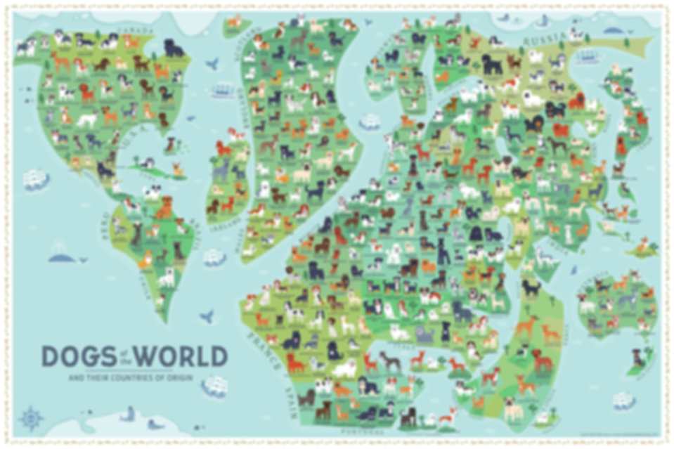 Dogs of the World MAP - 2018 Edition - Lili Chin