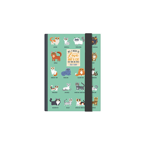 Cats 2021 weekly mini diary - preorder