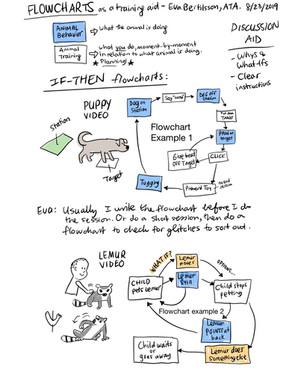Flowcharts as a training aid