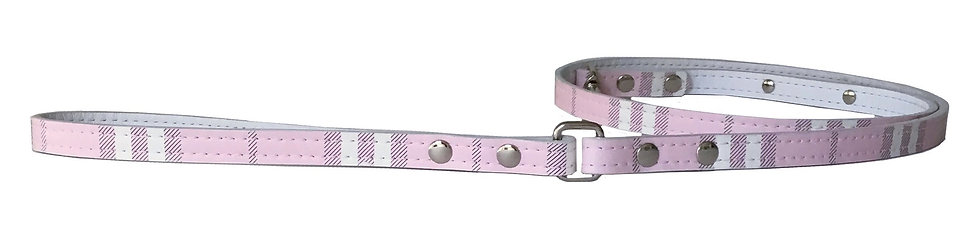 London Plaid Icy Pink Leash
