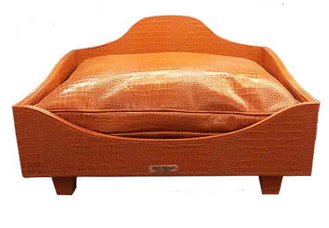 Croc Imprint leather bed