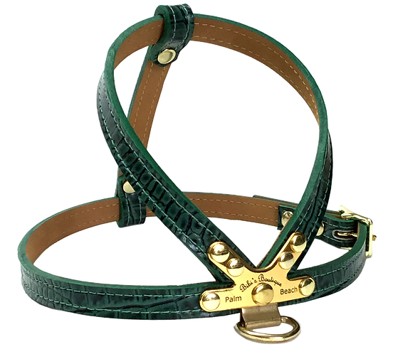 Croc Imprint K Harness Green Leaf