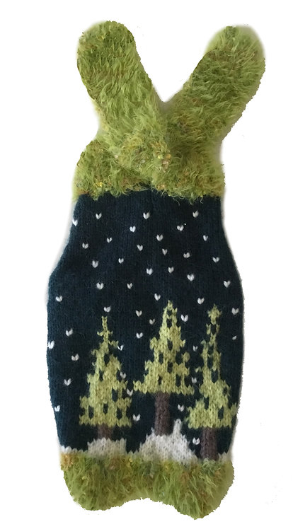 Sweater Black & Green PineTrees