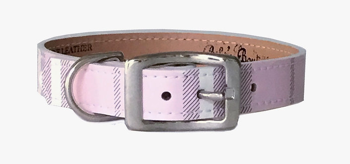 London Plaid Icy Pink Collar