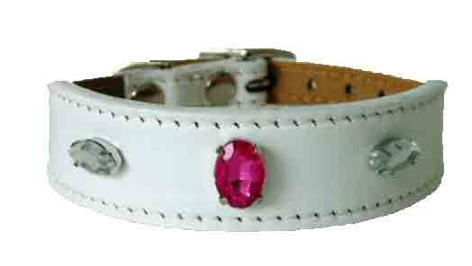 White Luscious Jewelled Tapered Collar