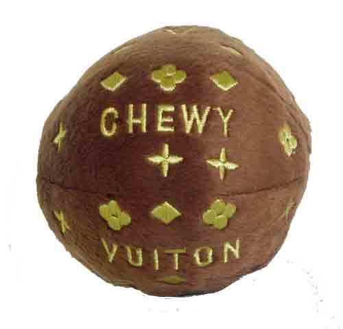 Chewy Vuiton Plush Ball Toy