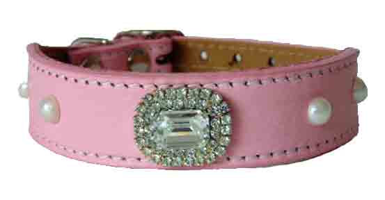 Pink Luscious Large Crystal Tapered Collar