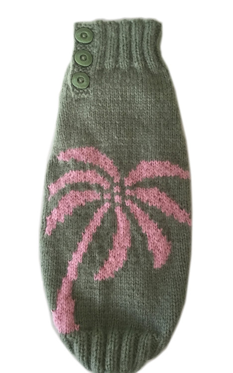 Sweater Green Pink Palm Tree