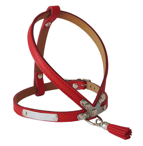 Luscious Tassel Harness Red Berry