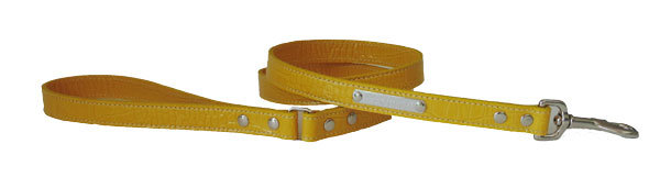 Croc Imprint Leash Yellow
