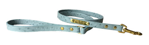 Ostrich Leash Blue