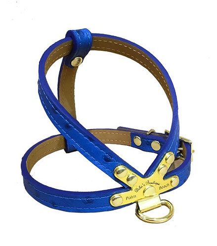 Ostrich Harness Royal Blue