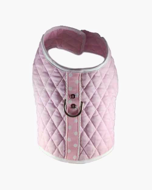 Pink White Dots Vest Harness