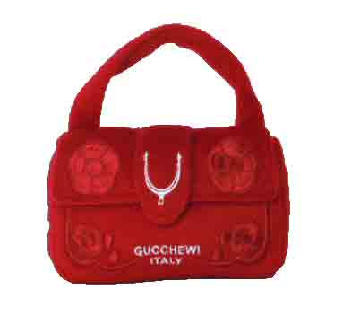 Gucchewi Red Plush Toy Purse