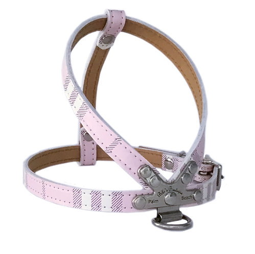London Plaid Icy Pink Harness