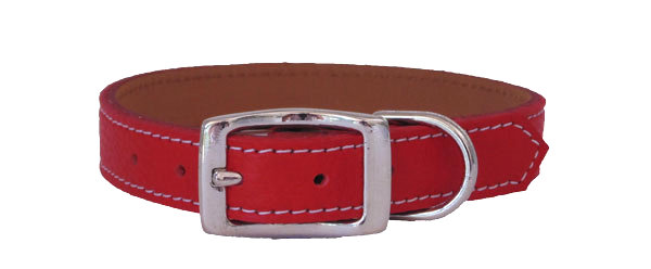 Pebble Straight Collar Red