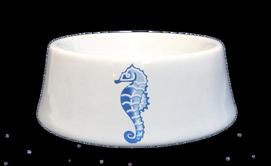 Blue Seahorse Ceramic Bowl