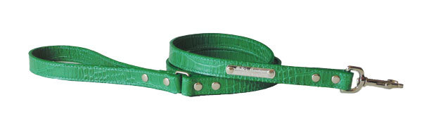 Croc Imprint Leash Green