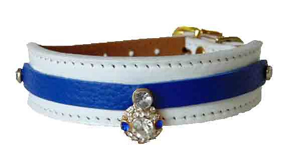 White Pebble Jewelled Tapered Collar