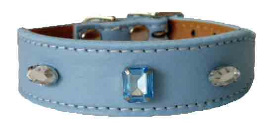 Blue Luscious Jewelled Tapered Collar