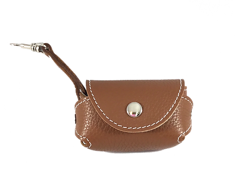 Pebble Leather Poo Caddy